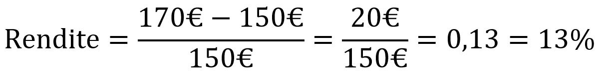 Beispiel zur Rendite-Formel